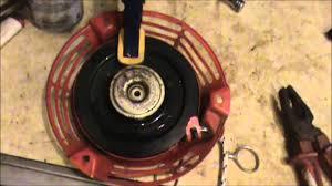 broken pull start on honda lawnmower youtube