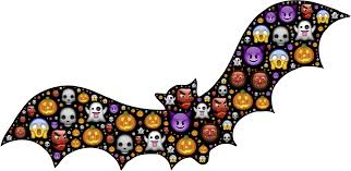 clipart colorful halloween bat