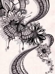 butterfly drawings black and white cliparts suggest