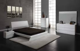 White Bedroom Dresser And Nightstand Gray Wall Paint Color White And Black Modern Headboard Modern