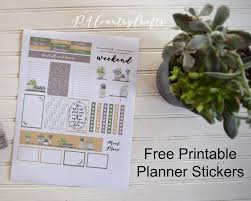 printable country stickers free printable planner stickers houseplants pa country crafts