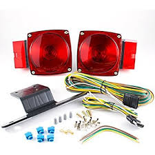 amazon com blazer c6423 square trailer light kit red automotive