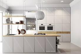 cuisine design blanche cuisine design blanche et bois en photo
