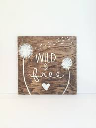 dandelion wood plaques wall and free wooden sign college by sweetbananasart on etsy
