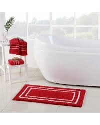essential home floor l don t miss this deal essential home guest 3pc rug and towel set red