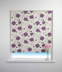 Patterned Roman Blinds Purple Floral Roller Blinds High Quality Window Blinds Terrys