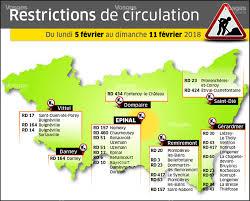 A La Une Carte Des Travaux Dans Les Vosges Du 5 Au 11 Février