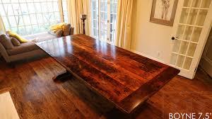 reclaimed wood 7 5 ft reclaimed wood trestle table for burlington home