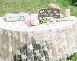 wedding table cloth wedding tablecloth etsy