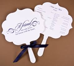 wedding ceremony program paper wedding fan programs