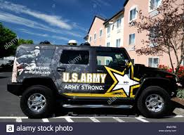 tiffany blue hummer advertisement advertising ad for us military army strong on side