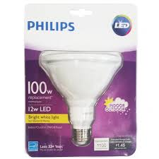 Led Light Bulbs 100w Equivalent by Philips 460051 12w 100w Equivalent Bright White Indoor Outdoor