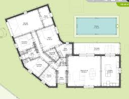 plan maison plain pied en l 4 chambres plan de maison plain pied 150m2 avie home