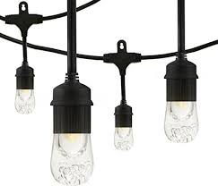 smartyard led string lights amazon com enbrighten café led string lights 24 foot 12 lifetime