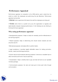 Performance Appraisal Report Sample Performance Appraisal Hr Management Project Report