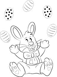 clipart easter bunny line art