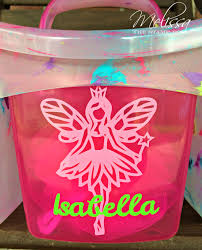 personalized shower caddy the stamp doc for my daughter i selected a simple fairy design that i cut with light pink vinyl i added the