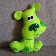 felt handmade green puppy inspired by blue s clues