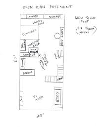 Open Floor Plans With Basement And The Total Comes To 1200 Open Floor Plan Basement Complete