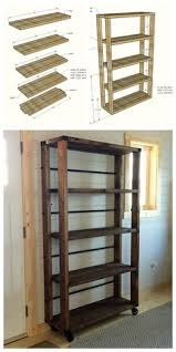 Industrial Bookcase Diy Ana White Build A Rolling Industrial Shelves Free And Easy Diy