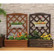 china small wall hanging wooden flower stand which from yantai
