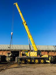 terex ac 100 4 mobile crane lifting 32 000kg 8 meters radius