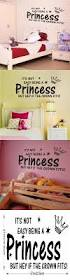 home wall art princess crown quotes wall decals home decor wall