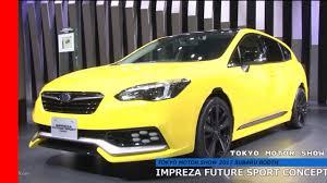 subaru impreza sport subaru impreza future sport concept at tokyo motor show 2017 youtube