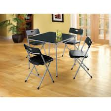 cosco products 5 piece folding table and chair set black cosco home and office products 5 piece card folding table and euro