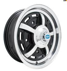 Gloss Black Sprintstar Wheel 5 Lug For Early Model Bug Ghia