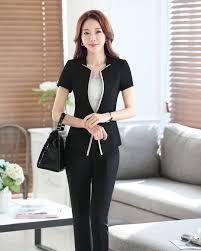 femme de bureau pas cher été costumes pantalons pour femmes d affaires