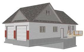 floor garage with loft floor plans