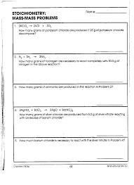 Stoichiometry Problems Worksheet Chem Iib Mr Phelps Big Rapids Hs