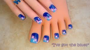 13 blue and orange toe nail designs images blue and red toe