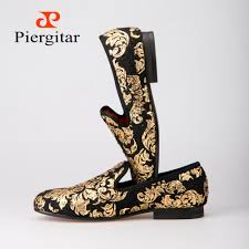 aliexpress com buy 10 styles new 1pc fashion solar powered wholesale piergitar new high end gold printing men shoes luxury