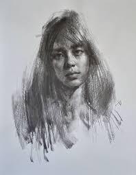 Back Portrait - 860 best portrait charcoal value images on drawing
