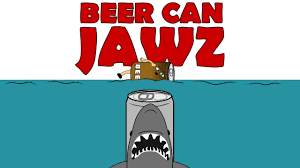 cartoon beer can beer can jawz jaws cartoon parody of quint u0027s indianapolis speech
