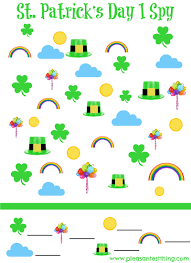 st patrick u0027s day printable i spy game