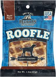 redbarn roofles with natural maple flavor dog treat chewy com