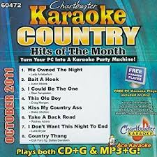 country music karaoke free various artists karaoke country hits of october 2011 by various