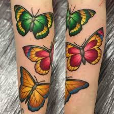 collection of 25 butterfly design on biceps