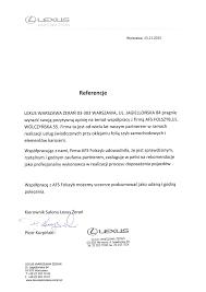 lexus zeran kontakt rekomendacje naszych klientów folszyb