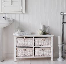 newport white basket low cabinet for storage bathroom