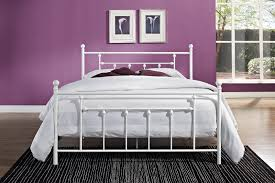 Antique White Metal Bed Frame Furniture Modern Looks Of Metal Bed Frame To Decorate Our