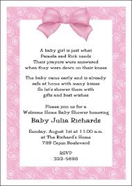 welcome home baby shower welcome home baby pink bow shower invitation baby shower party