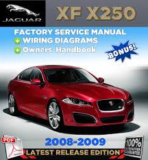 jaguar xf x250 2008 2009 factory repair service manual workshop ebay
