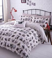 furniture black bed with interesting pintuck duvet cover and