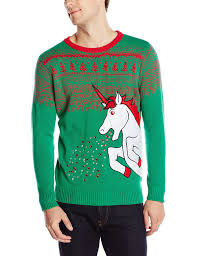 blizzard bay men u0027s big sparkle unicorn ugly christmas sweater at