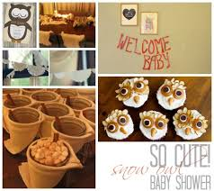 owl themed baby shower ideas winter the most adorable diy snow owl themed baby