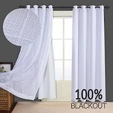 Grommet Burlap Curtains 100 Blackout Curtain Burlap Linen Look Thermal